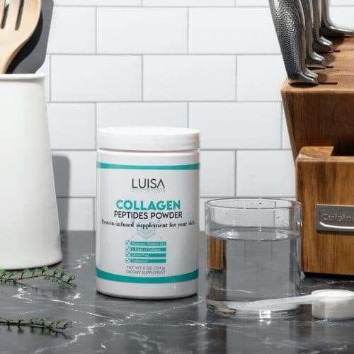 luisa true skincare unflavored hydrolized collagen in the kitchen