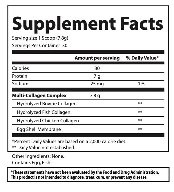 collagen powder supplement facts l